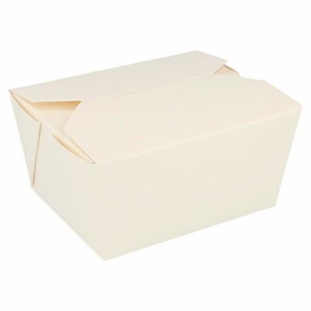 Caja Carton Americana Blanca 11,3x9x6,4cm 780ml (50 Uds)