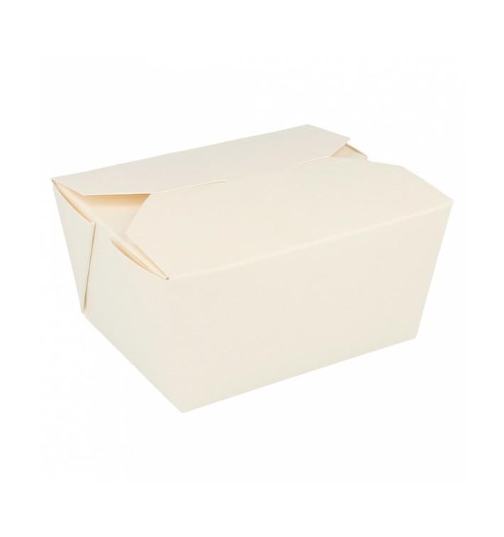 Caja Carton Americana Blanca 113x90x64mm 780ml (450 Uds)