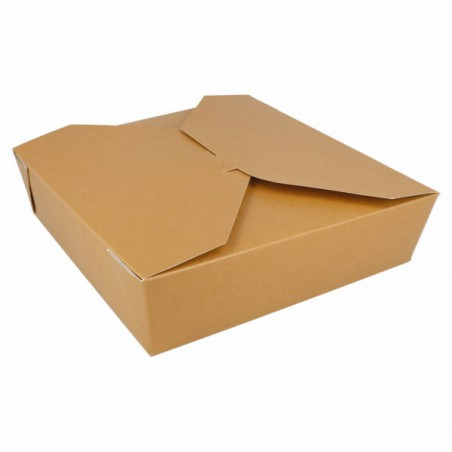 Caja Carton Americana Natural 21,7x21,7x6cm 2910ml (140 Uds)