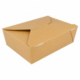 Caja Carton Americana Natural 19,7x14x6,4cm 1980ml (200 Uds)