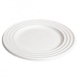 Plato Caña de Azucar Premium Wave Blanco Ø18cm (600 Uds)