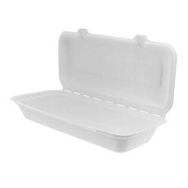 Envase Panini Caña de Azúcar Blanco 290x273x37,5mm (200 Uds)