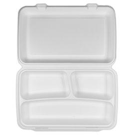 Envase MenuBox Caña de Azúcar Blanco 3C 380x483x61,5mm (100 Uds)