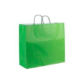 Bolsa Papel Verde con Asas 100g 22+9x23cm (200 Uds)