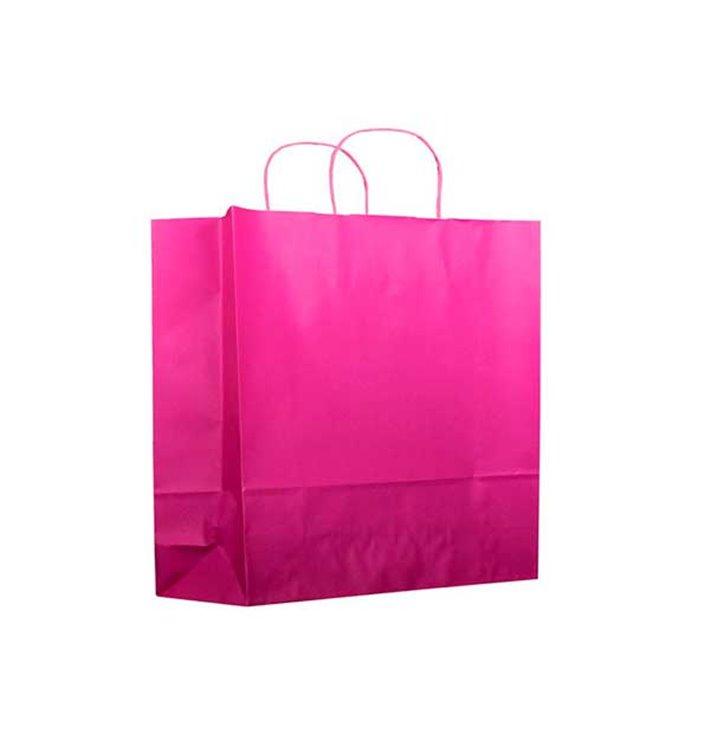 Bolsa Papel Fucsia con Asas 100g 22+9x23 cm (25 Uds)