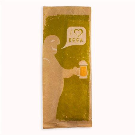 """Sobre Portacubiertos con Servilleta """"I Love Beer"""" (125 Uds)"""