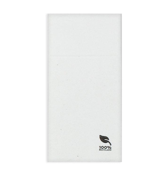 Servilleta Portacubiertos de Papel Eco Blanco 40x40cm (960 Uds)