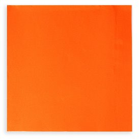 Servilleta de Papel Cocktail 20x20cm 2C Naranja (100 Uds)