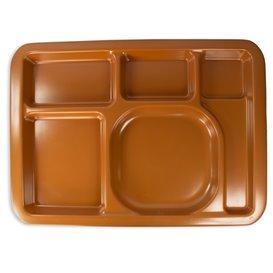 Bandeja de Plastico PS Dura Chocolate 5C 470x350mm (25 Uds)