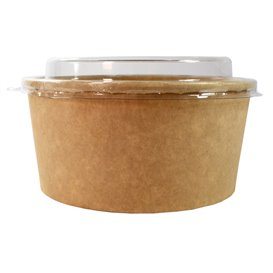 Tarrina Cartón Kraft-Kraft + Tapa RPET 25 Oz/750ml (300 Uds)