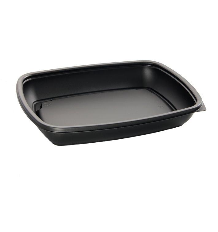 Envase Plastico PP Negro 600ml 23x16,5cm (300 Uds)