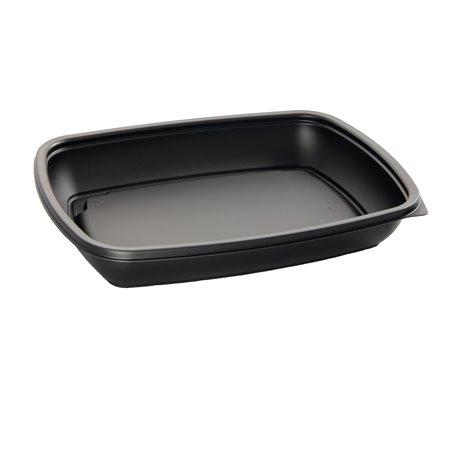 Envase Plastico PP Negro 600ml 23x16,5cm (75 Uds)