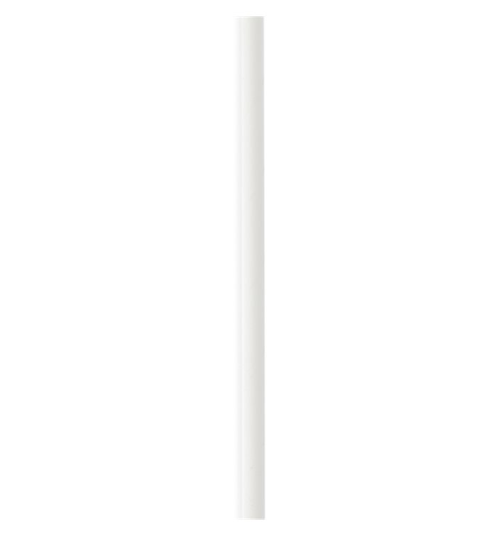 Pajita Recta de Papel Blanco Ø6mm 14,5cm (3000 Uds)