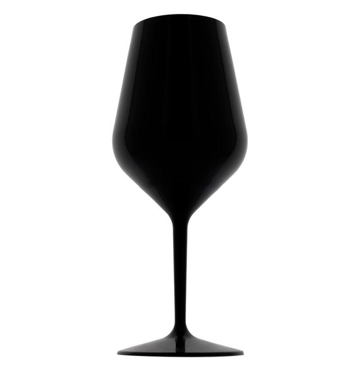 Copa Reutilizable para Vino Tritan Negro 470ml (6 Uds)