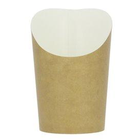 Vaso Desechable Antigrasa Carton Efecto Kraft Mediano (55 Uds)