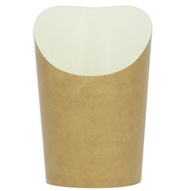 Vaso Desechable Antigrasa Carton Efecto Kraft Pequeño (55 Uds)