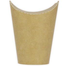 Vaso Antigrasa Carton Efecto Kraft con Solapa 16Oz/480ml (50 Uds)