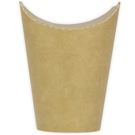 Vaso Antigrasa Carton Efecto Kraft con Solapa 16Oz/480ml (1000 Uds)