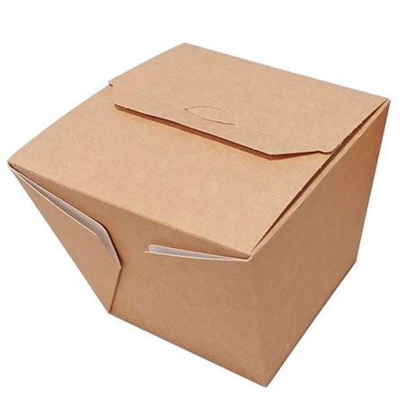 Caja de Comida para Llevar Wok Kraft 950ml (125 Uds)