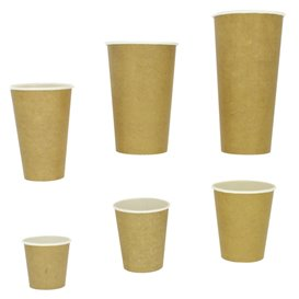 Vaso Cartón 100% ECO 22 Oz/660ml Kraft Ø9cm (1000 Uds)