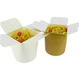 Envase Comida para Llevar 100% ECO Blanco 26Oz/780ml (50 Uds)