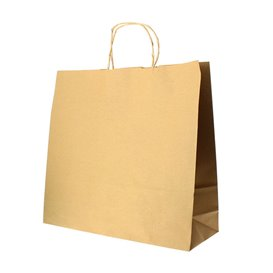 Bolsa Papel Kraft Hawanna con Asas 100g 28+16x27cm (200 Uds)