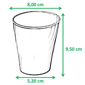 "Vaso de Plastico PP ""X-Table"" Oro 320ml (8 Uds)"