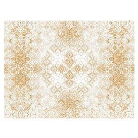 "Mantel Individual Papel 30x40cm ""Mosaico"" Beige 40g/m² (1000 Uds)"