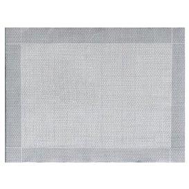 """Mantel Individual Papel 30x40cm """"Entre Lineas"""" Gris 40g/m² (1000 Uds)"""