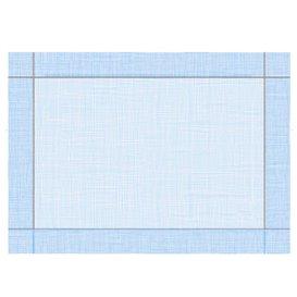"""Mantel Individual Papel 30x40cm """"Entre Lineas"""" Azul 40g/m² (1000 Uds)"""