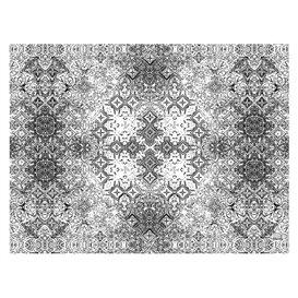 """Mantel de Papel Cortado 1x1m """"Mosaico"""" Negro 40g/m² (400 Uds)"""