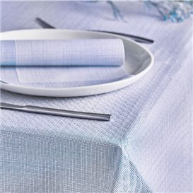 "Mantel de Papel Cortado 1,2x1,2m ""Entre Lineas"" Azul 40g/m² (300 Uds)"