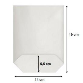 Bolsa de Papel Cilíndrica con Base Hexagonal Blanco 14x19cm (1000 Uds)
