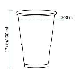 Vaso de Plastico PP Transparente 400 ml (1550 Unidades)