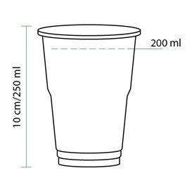 Vaso de Plastico PET Cristal Transparente 250 ml (50 Uds)