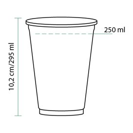 Vaso de Plástico Rígido de PET 295ml Ø8,1cm (1000 Uds)