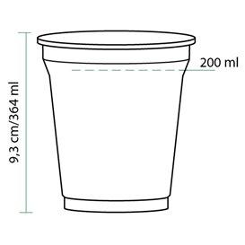 Vaso de Plastico PET 364 ml Ø9,5cm (75 Uds)