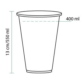 Vaso PLA Bio Transparente 550ml Ø95mm (70 Uds)