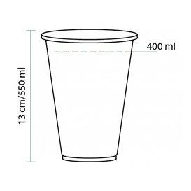 Vaso PLA Bio Transparente 550ml Ø95mm (1120 Uds)