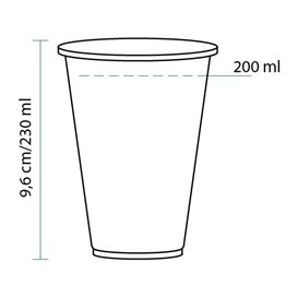 Vaso PLA Bio Transparente 230ml (100 Uds)