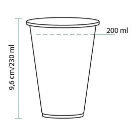 Vaso PLA Bio Transparente 230ml (3000 Uds)