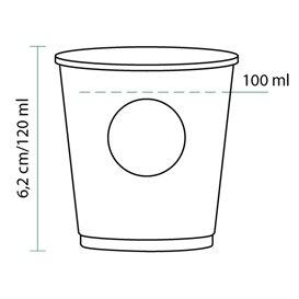 "Vaso Cartón 4Oz/120ml ""Specialty to go"" Ø6,2cm (80 Uds)"