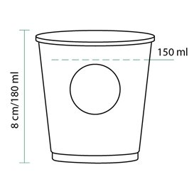 "Vaso Cartón 6Oz/180ml ""Specialty to go"" Ø7,0cm (100 Uds)"