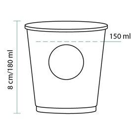 "Vaso Cartón 6Oz/180ml ""Specialty"" + Tapa Ø7,0cm (1000 Uds)"