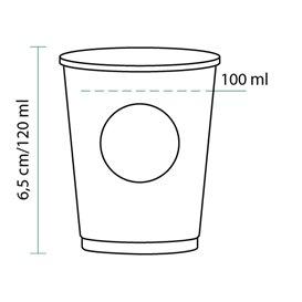 Vaso de Carton Eco. BioWare PLA 4Oz/120ml Ø6,2cm (80 Uds)