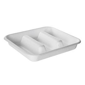 Envase para Tacos de Caña de Azúcar Blanco 18,5x18,5cm (300 Uds)