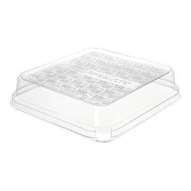 Tapa PLA para Envase de Caña de Azúcar Blanco 18,5x18,5cm (50 Uds)