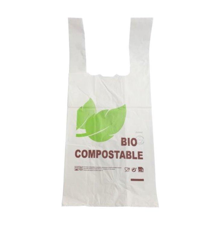 Bolsa Plastico Camiseta 100% Biodegradable 35x45cm (1000 Uds)