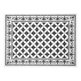 "Mantel Individual Papel 30x40cm ""Alhambra"" Negro 50g/m² (1000 Uds)"