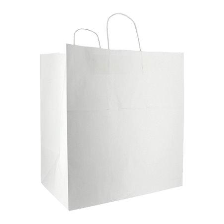 Bolsa Papel Blanca con Asas 100g/m² 36+24x39cm (200 Uds)